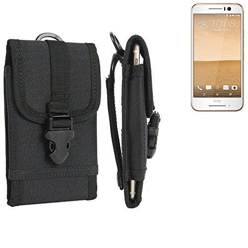 bolsa del cinturón / funda para HTC One S9, negro | caja del teléfono cubierta protectora bolso - K-S-Trade (TM)
