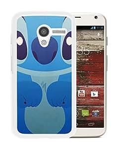 New Unique Custom Designed Case With Lilo and stitch White For Motorola Moto X Phone Case