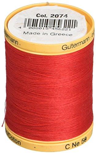 Gutermann Natural Cotton Thread Solids 876yd, Red ()