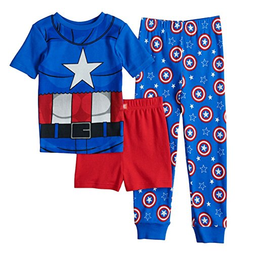 Captain America Avengers Boys' 3 Piece Pajamas Set 10