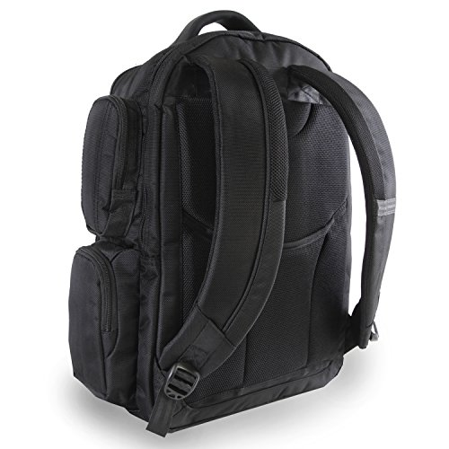 51cEpDUnQ1L - Perry Ellis Men's 9-Pocket Professional Laptop Backpack-P350 Business Backpack, Black, One Size