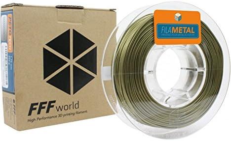 FFFworld FilaMETAL Bronze 250 gr. 1.75 mm Filamento metálico para ...