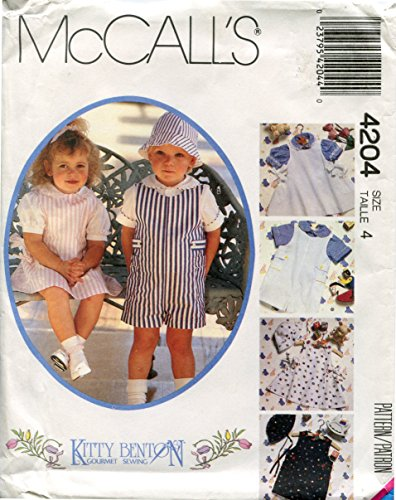 (McCall's 4204 Pattern for Toddler's Jumper, Short-All, Shirts & Hat)