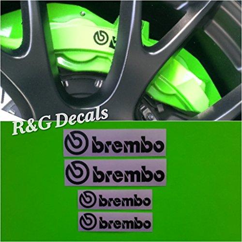 R&G BREMBO HELLCAT Brake Caliper HIGH TEMP Decal Sticker Set of 4 (Black)