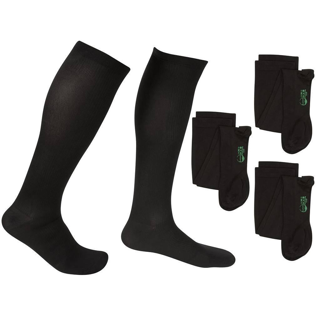 3 Pair EvoNation Men's USA Made Graduated Compression Socks 15-20 mmHg Moderate Pressure Medical Quality Knee High Orthopedic Support Stockings Hose - Best Comfort, Circulation, Travel (Medium, Black) by EvoNation B00I5V1SRU