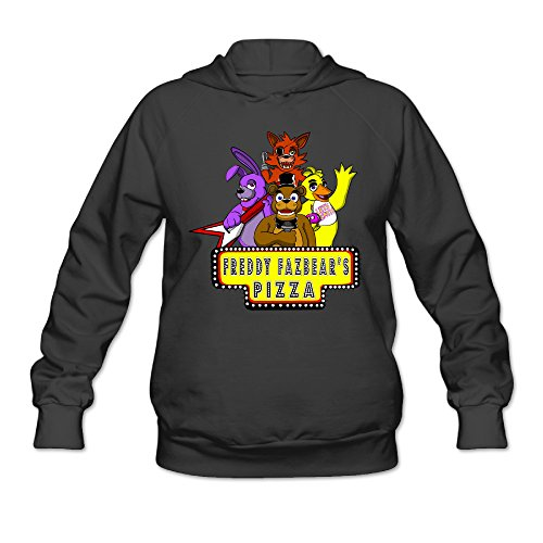 CYANY 5Nights At Freddy's FNaF Video Games Women's Cute Hoodies Hooded Sweatshirt MBlack