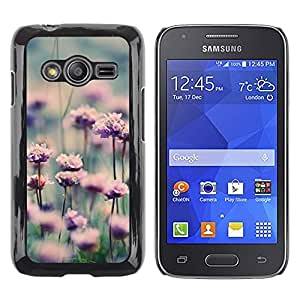 LECELL--Funda protectora / Cubierta / Piel For Samsung Galaxy Ace 4 G313 SM-G313F -- Flowers Meadow Nature Sun --
