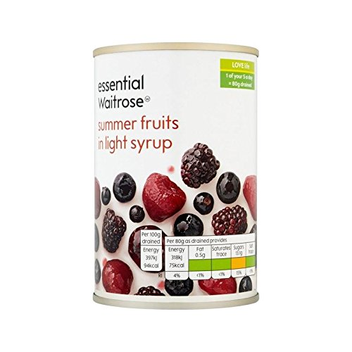 Summer Fruits in Syrup essential Waitrose 290g - Pack of 4