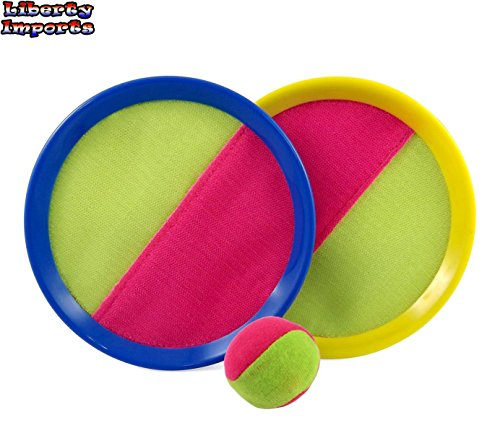 Classic Toss and Catch Sports Game Set for Kids with Bean Bag Ball