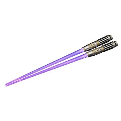 "Kotobukiya Mace Windu Light Up Version Lightsaber Chopsticks ""Star Wars"" Action Figure: Toys & Games"