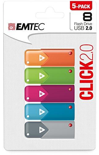 Emtec Click Flash 5 Pack ECMMD8GB102P5