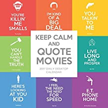 TF Publishing 2017 Keep Calm and Quote Movies Daily Desktop Calendar (17-3019)