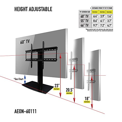 universal tv stand for tv with swivel and height adjustment buy online in uae electronics. Black Bedroom Furniture Sets. Home Design Ideas