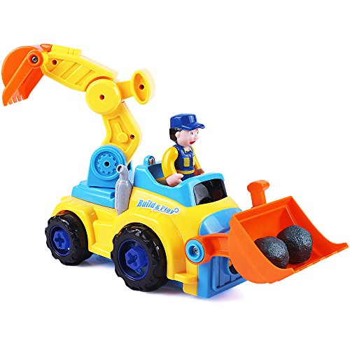 Tractor Toys For Boys : Tractor trailer take apart toys farm construction