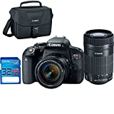 Canon EOS Rebel T7i Digital SLR Camera + EF-S 18-55mm IS STM Lens + EF-S 55-250mm IS STM Lens - Deal-Expo Accessories Bundle