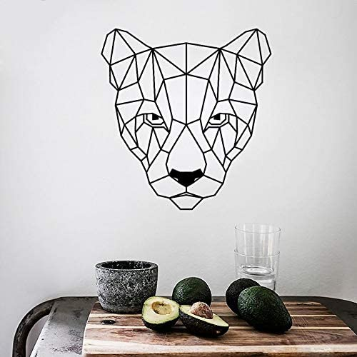 wukongsun Animal Puma Wall Decal Geometric Puma Head Vinyl Sticker ...