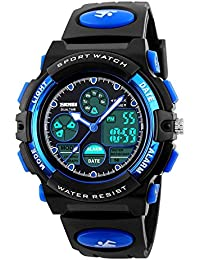 Kids Sports Digital Watch, Boys Girls Outdoor Waterproof...