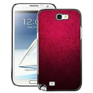 A-type Arte & diseño plástico duro Fundas Cover Cubre Hard Case Cover para Samsung Note 2 N7100 (Purple Watercolor Black Color Wallpaper)