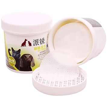 Tears Mucus Saliva - 100 toallitas de algodón húmedo para mascotas con base hipoalergénica, uso