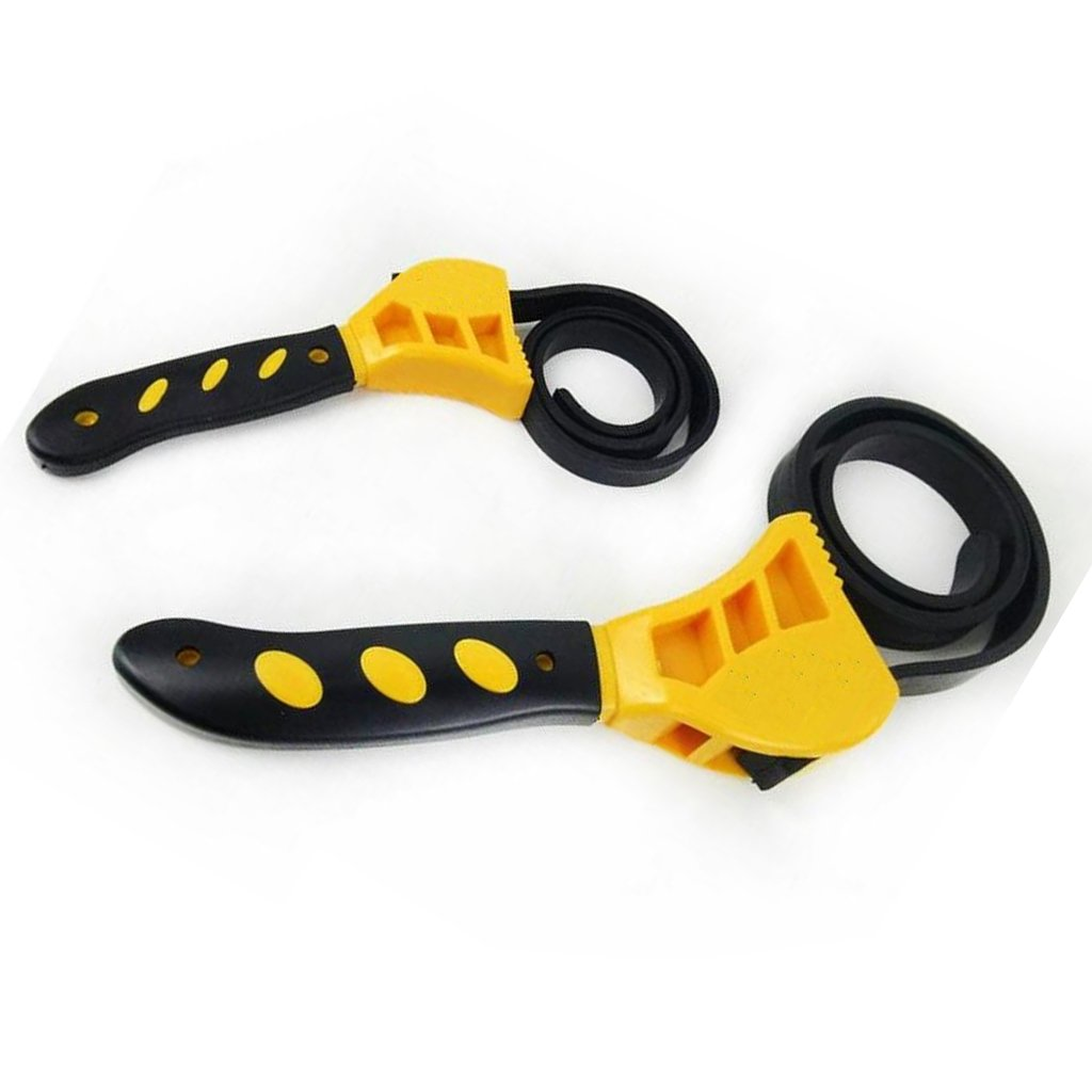 Yellow 22.83 Inch //580mm 19.69 Inch Select D DOLITY Durable Rubber Strap Wrench Adjustable DIY Jars Plumbing Oil Filter Spanner Belt Length 500mm L