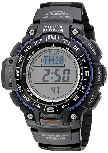 (Casio Men's SGW-1000-1ACR Triple Sensor Digital Display Quartz Black Watch)