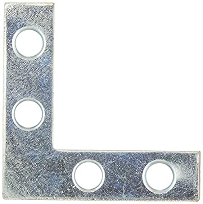 Stanley Hardware 1-1/2-Inch Flat Corner Brace, Zinc Plated, 4-Pack #756618