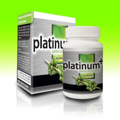 Extrait de café vert, multi-vitamines, Immunostimulant, et la perte de poids, Platinum Plus grain de café vert Extrait 50% d'acide chlorogénique, 60ct