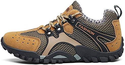 メンズウォーキングシューズアンチスリップトレーナートレッキングブーツローカットはハイキングアウトドア登山トレイルを実行するための防水透湿性軽量靴メッシュ (Color : Gray, Size : 44)