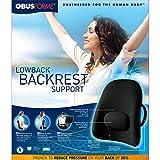 Obus Forme Ergonomic Orthopedic Low Back Backrest, Black