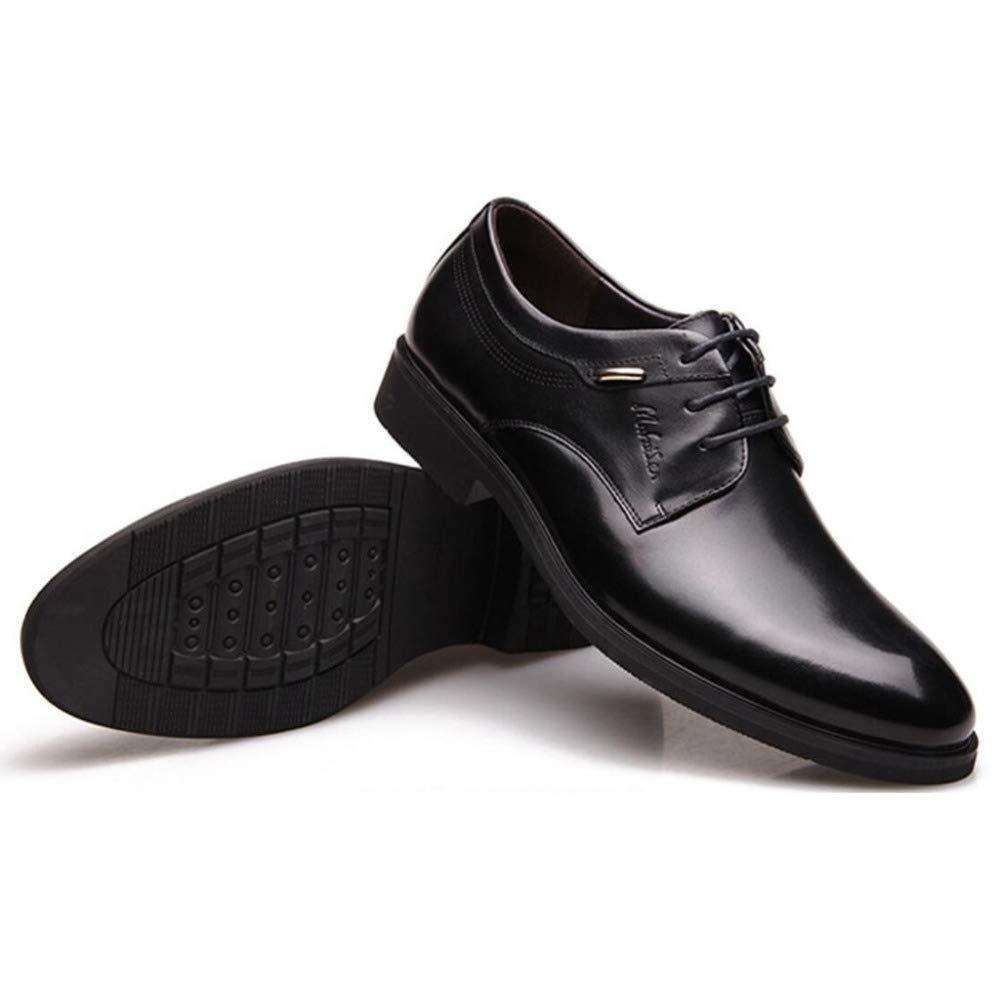 FCBDXN Herren Spitzen Runde Ups Runde Spitzen Zehe Schuhe Geschäft Formale Lederschuh Geeignet Für Hochzeit Komfortable Atmungsaktive Innen schwarz 458878