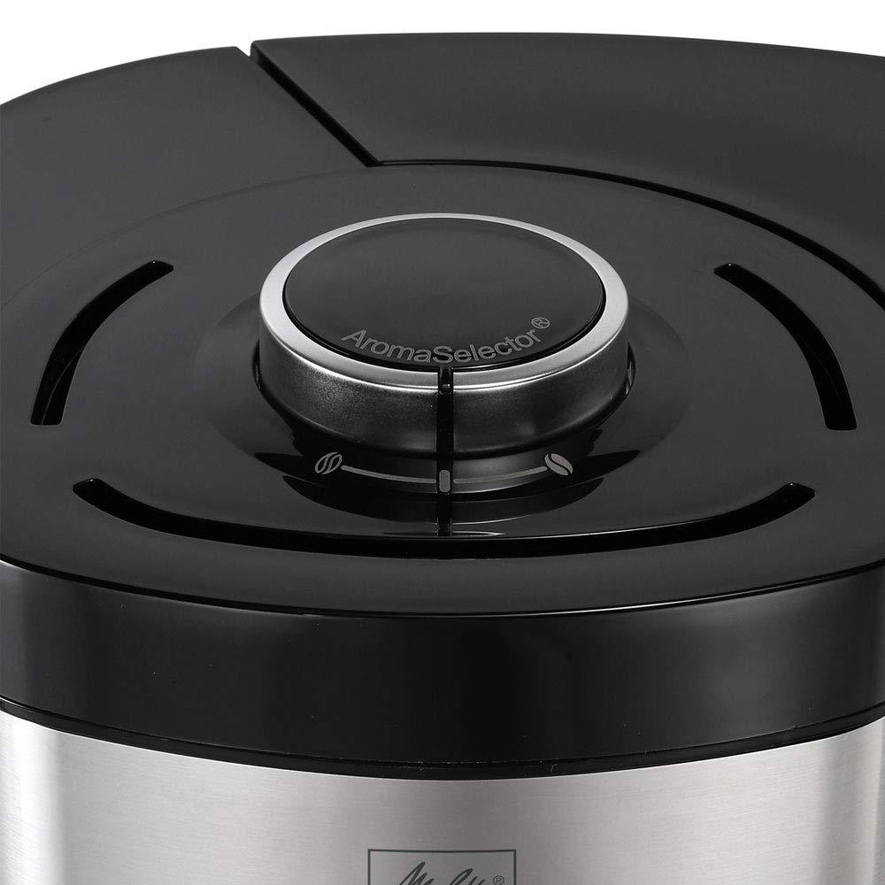 1.25 liters abnehmbaren Wassertank und Entkalkungsprogramm schwarz Kunststoff Melitta Look V Timer 1025-08 Filterkaffeemaschine mit Timerfunktion