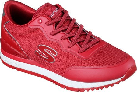 Skechers Women's Sunlite Sneaker,Red,US 7 M