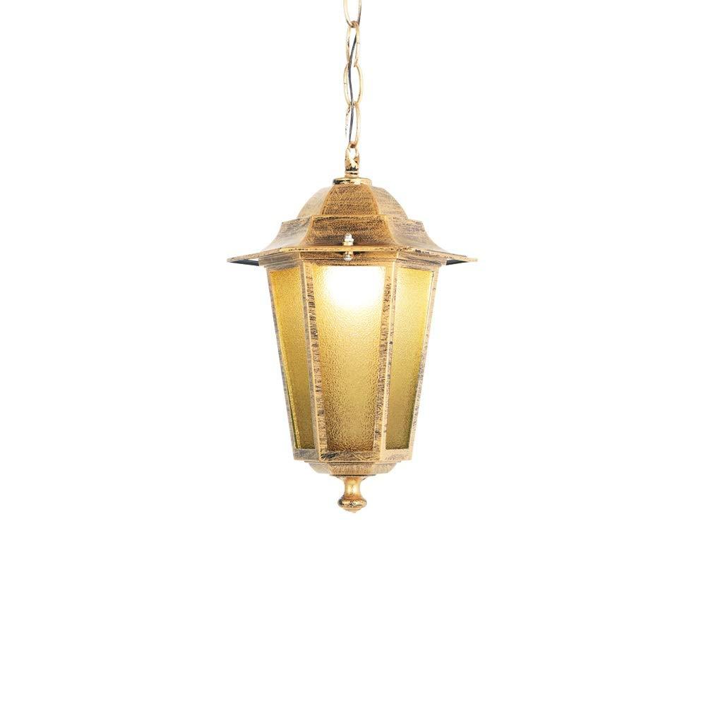 Modenny Industrielle Retro Glas-Deckenpendelleuchten Vintage Wasserdichte hängende Lampe im Freien IP65 Rost-Druckguss-Aluminium Externe regendichte Leuchte für Patio-Terrassen-gemäßnschaftsgang