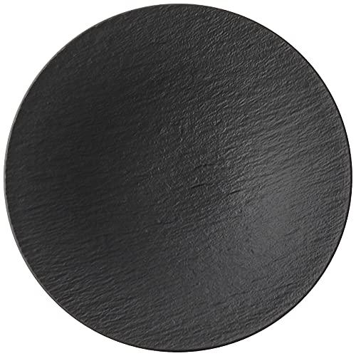 Villeroy & Boch Manufacture Cuencos de pasta, Porcelana Premium, Negro (Rock)