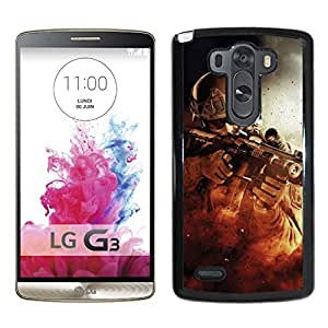 War Fire Fight Soldier Gun Weapon Durable High Quality LG G3 Phone Case