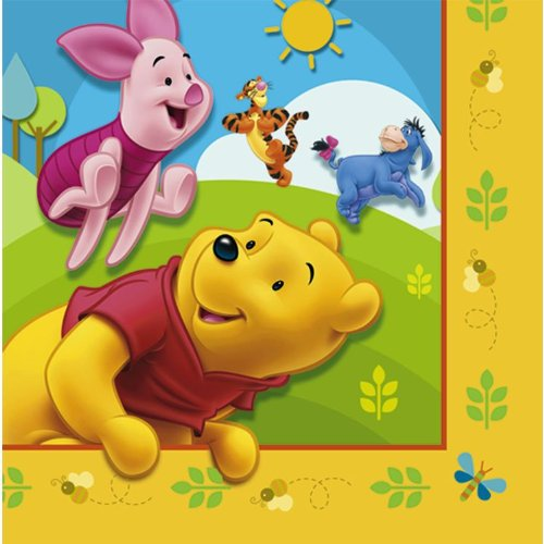Winnie the Pooh Lunch Napkins by Factory Card and Party Outlet