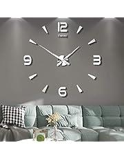 VANGOLD Mute DIY Reloj de Pared sin Marco Espejo Grande 3D Sticker-2 años de garantía