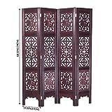 Vintage Oriental Style 4 Panels Screen Room Divider FUR1009