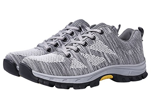Athletic Industrial Footwear Men's Sneakers Trainer Safety Steel Work Shoes Toe Grey cwnwaBq0f