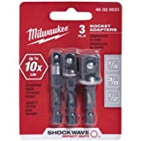 "MILWAUKEE ELEC TOOL 48-32-5033 3 Piece 1/4"" He x Adapter Set"