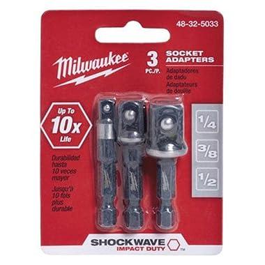 MILWAUKEE ELEC TOOL 48-32-5033 3 Piece 1/4  He x Adapter Set