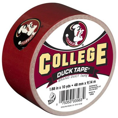 Florida State Single (Duck Brand 240265 Florida State University College Logo Duct Tape, 1.88-Inch by 10 Yards, Single)