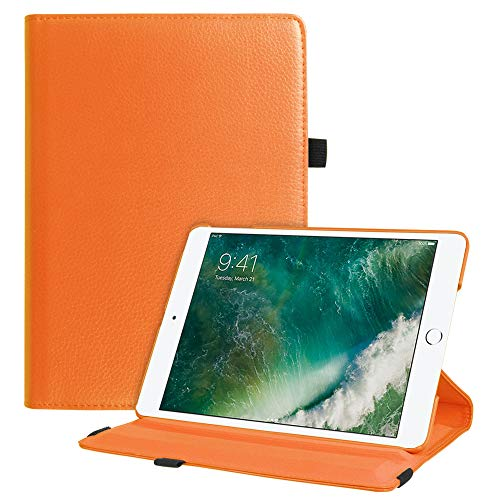 Fintie iPad 9.7 2018 2017 / iPad Air 2 / iPad Air Case - Multiple Angles Stand Smart Protective Cover with Auto Sleep Wake for iPad 9.7 inch (6th Gen, 5th Gen) / iPad Air 2 / iPad Air, Orange