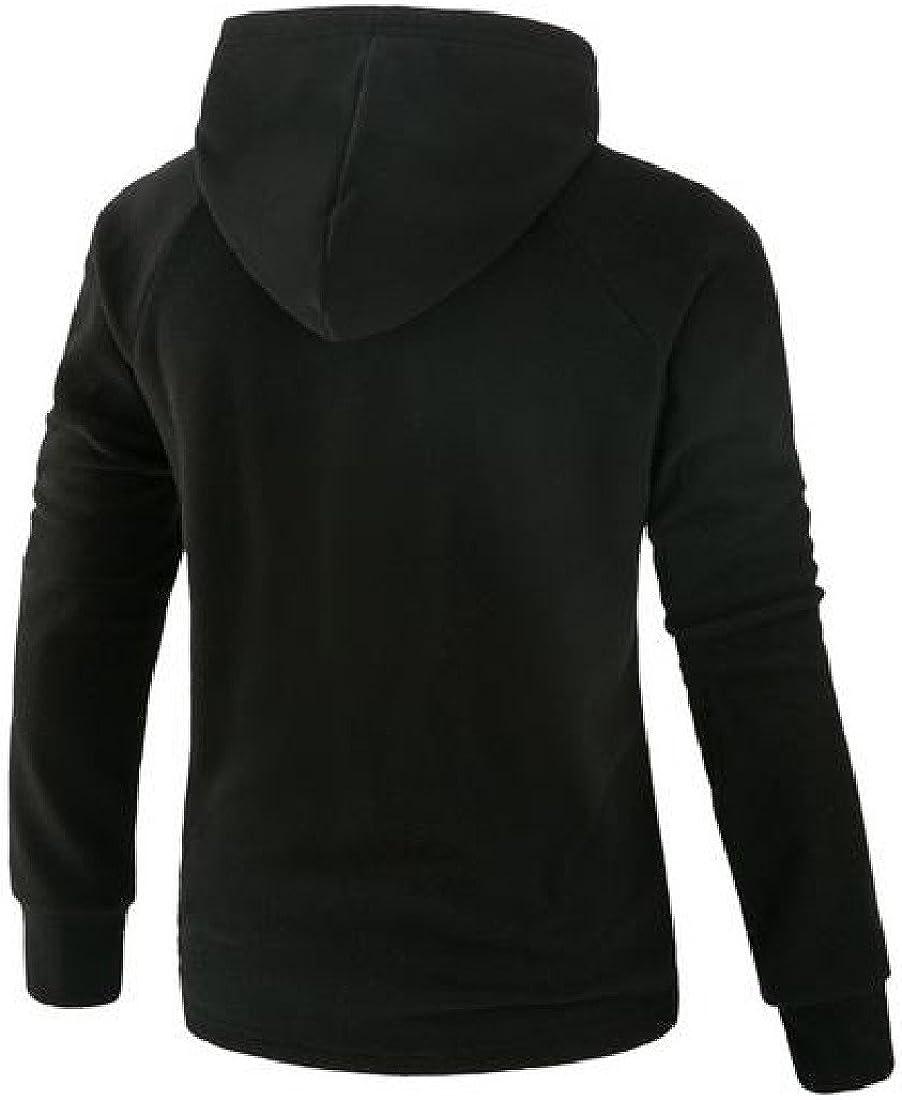 Ruhua Mens Long Sleeve Casual Pullover Hoodies Tops Hood Outwear