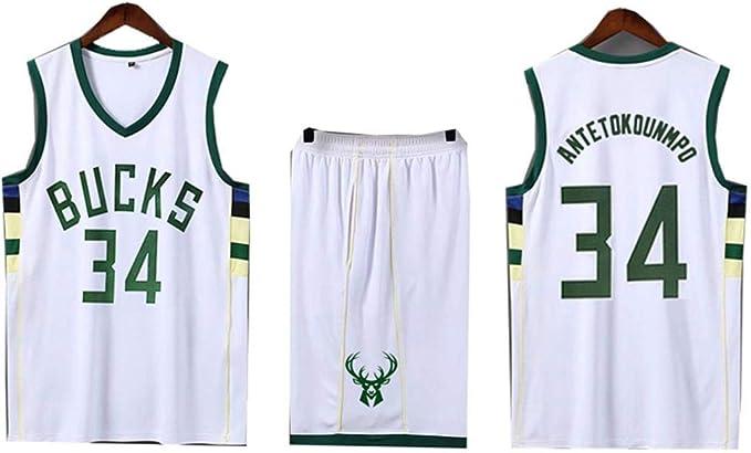 Basketball Suit2019 Mens Sports sin Mangas de Jersey Milwaukee ...