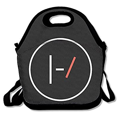 Black Twenty One Pilots Unisex Lunch Bags For Woman Man Kid