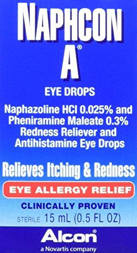 Alcon Naphcon-A Allergy Relief Eye Drops, 0.5-Ounce Bottles (Pack of (Allergy Relief Eye Drops)