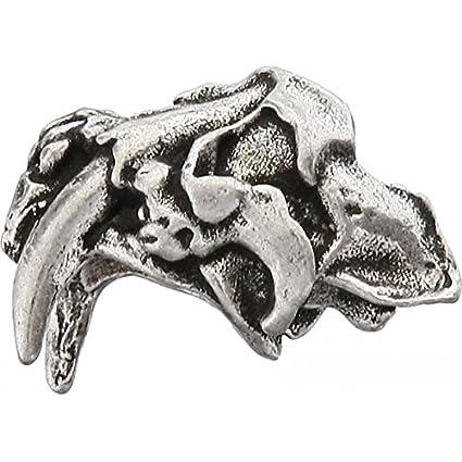 Sabretooth Skull Bead Pewter Fan Shop