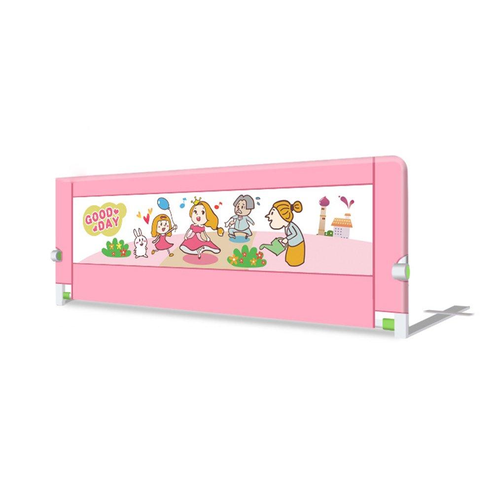 YNN ベッドガードレールベッドフェンスユニバーサルベッドレールチャイルドベッドサイドバッフル折り畳み式レール1.5m/1.8m/2m (色 : Pink, サイズ さいず : 200cm) 200cm Pink B07FHXRQXD