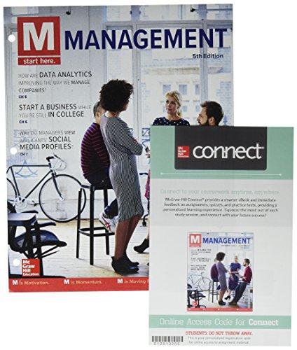GEN COMBO LOOSELEAF M:MANAGEMENT; CONNECT ACCESS CARD